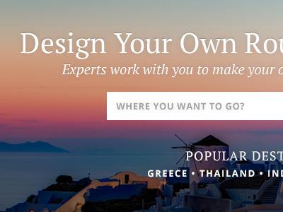 Travel Website Sneak Peek