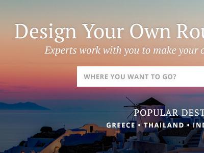 Travel Website Sneak Peek travel web design website