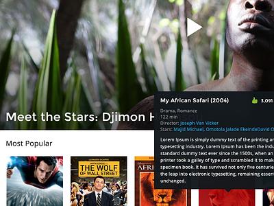 Movie Streaming Website movies website web design
