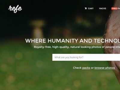 Refe New Landing Page Concept refe landing page web design concept