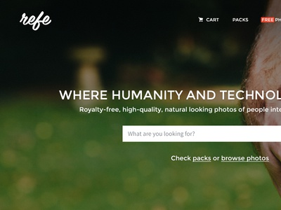 Refe New Landing Page Concept