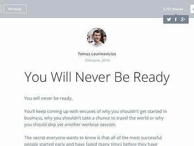 Bloge blog web design blogging template