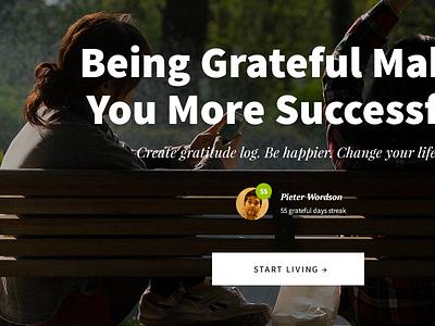 """Gratitude Log"" Landing Page Design Tutorial landing page web design tutorial"
