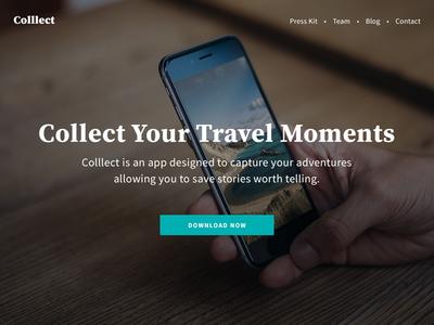Colllect App Landing Page for Despreneur Academy Course Tutorial