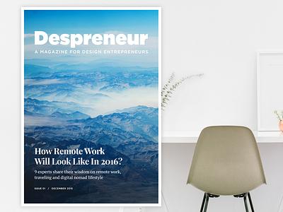 Despreneur Magazine Cover experiment cover magazine despreneur