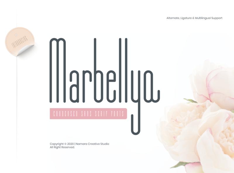 Marbellya Condensed Sans Serif Fonts luxurious professional branding logo luxury modern unique condensed condensed font sans serif fonts