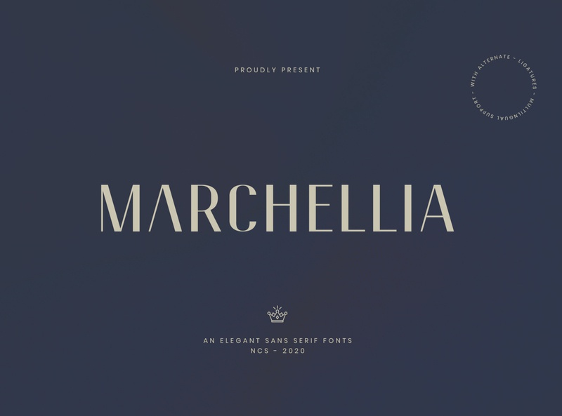 Marchellia Modern Sans Serif Fonts sans serif typhography typeface display font professional branding logo elegant luxury fonts sanserif sans font design minimalist modern