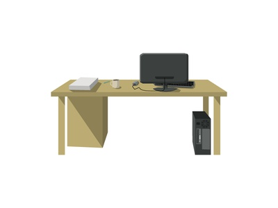 Polygon Style Desk