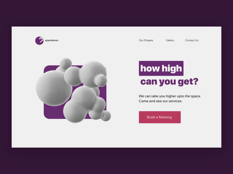 spaceleven - an eye candy design blog webpage product illustration ui ux minimal web design landing page
