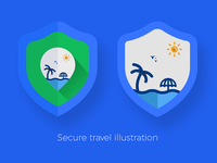Secure travel illustration