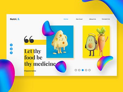 Web Page UI Design for Nutri. S, research blog nutrition ux ui webdesign webpage branding uxdesign uidesign minimalui design