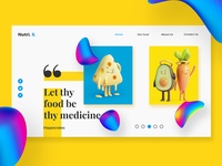 Web Page UI Design for Nutri. S,