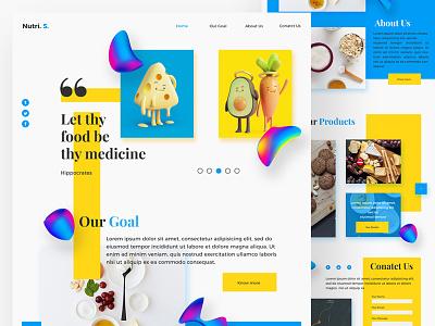 Web Page UI Design for Nutri. S. webpage webdesign uxdesign ux uidesign ui research nutrition minimalui design branding blog