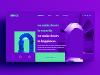 Web Page UI Design for Dock Doors