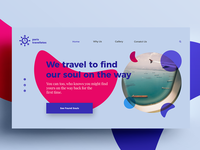 Minimal Web UI Design for Travel Agency
