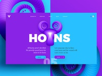 Web UI Design for Horns - Marketers
