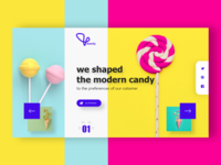 Mandy - The Candy Maker Web Landing Page Header