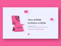 Three dribbble invitations available