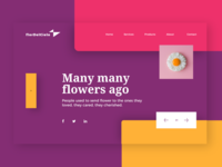 Flordelcielo- Flower Shop Web UI Design