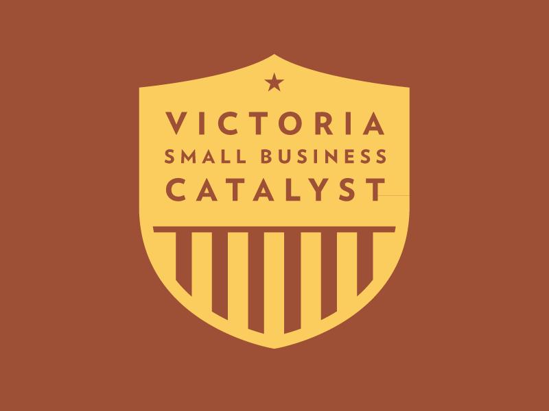 Victoria Small Business Catalyst logo badge stripes canada victoria british columbia business