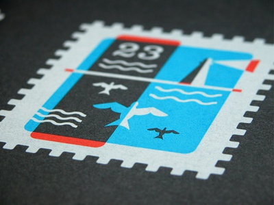 Stamp Print print screenprint poster black paper vahalla