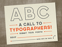 A Call To Typographers!