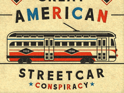 Streetcar illustration streetcar poster gm sucks