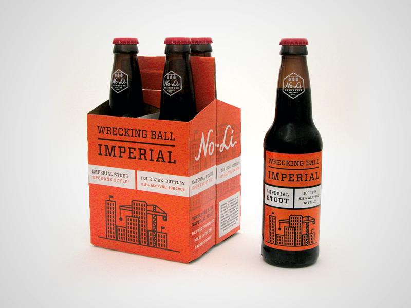 No-Li Wrecking Ball 4-Pack riley cran beer 4-pack packaging no-li brewhouse