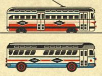Streetcar + Bus