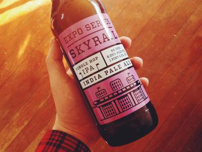 Skryail Single Hop IPA packaging beer bottle screenprinted craft beer