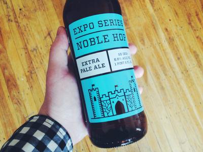Noble Hop beer packaging screen printed series expo series no-li beverage bottle craft beer