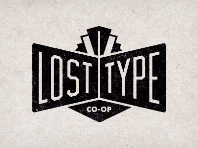 Lost Type Logo lost type losttype.com co-op cooperative fonts typefaces lettering font