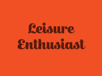 Leisure Enthusiast script structured display face