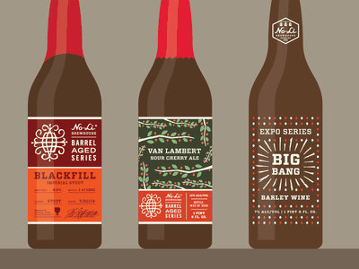 No-Li Brewhouse Bottles beer packaging screen printed series no-li beverage bottle craft beer
