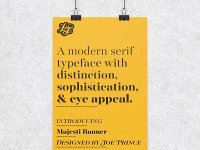 Majesti Banner Poster specimen release poster typeface