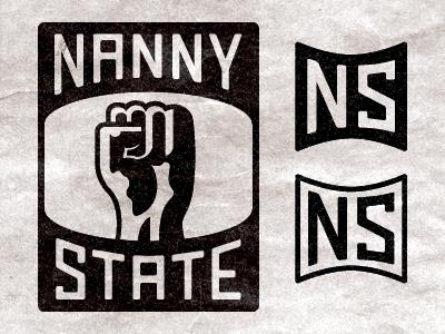 Nanny State brand logos monogram logo stamp dystopian orwell huxley