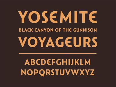 Catlin Sans 59parks fiftynineparks national parks type design typeface