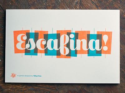 Escafina fonts typeface script upright