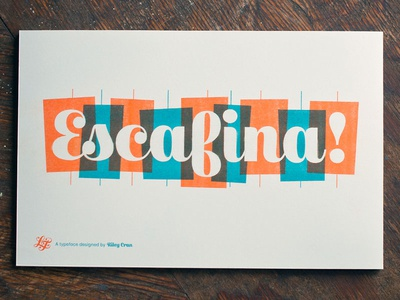 Escafina fonts typeface script upright