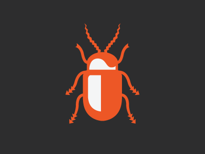 Beetle icon insect ew illustration