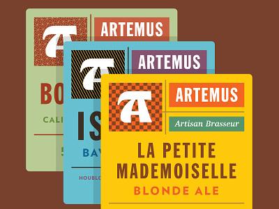 Artemus, Artisan Brasseur  european france paris craft beer bottle beverage series packaging beer