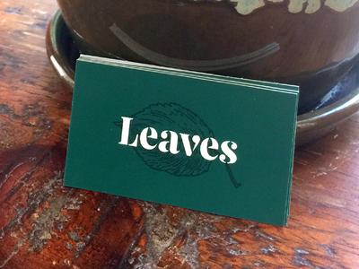 Leaves Cards logotype stencil custom