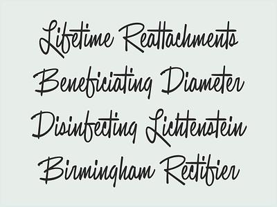 Casual font script casual