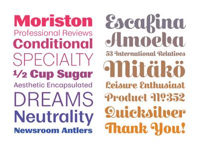Recent Work book typeface specimen