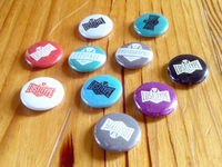 Lost Type Buttons buttons print pins lapel