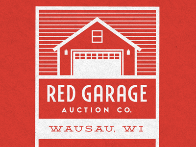 Red Garage Auction Co. logo identity brand auction co mark logotype custom card collateral