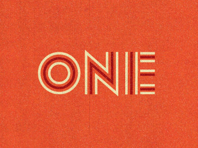 One Year lost type co-op type fonts lettering birthday