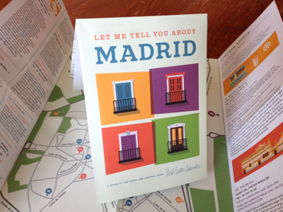 Madrid Cover illustration cover map madrid balcony