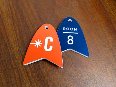 Key Fobs room key fob plastic acrylic