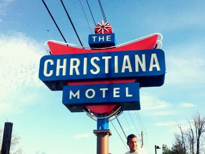 The Christiana Motel Sign riley cran signage sign identity brand motel neon outdoor